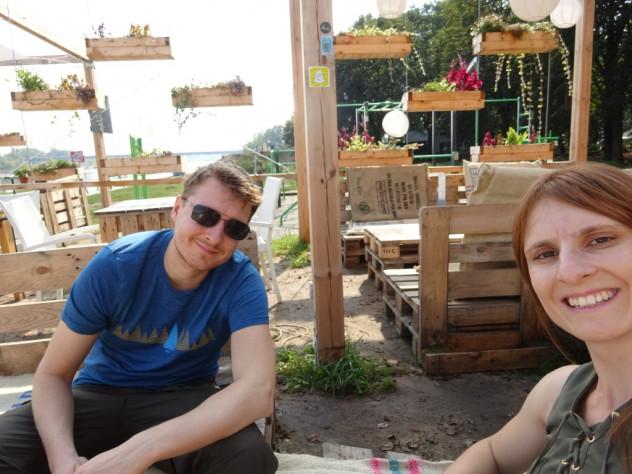Bar am Ufer der Weichsel