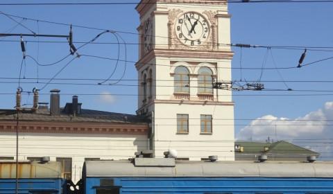 Ankunft am Bahnhof Kiew