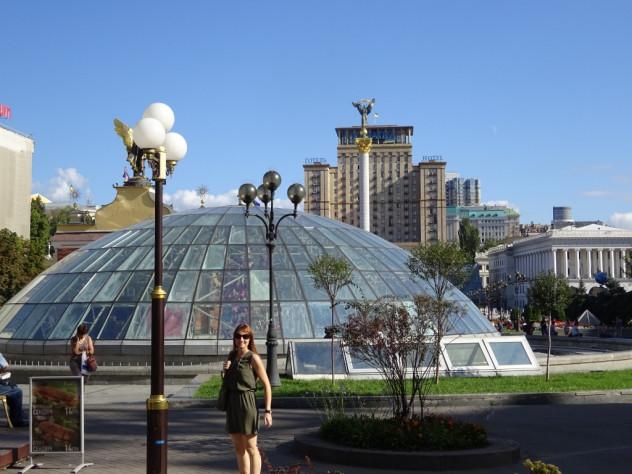 Tabea auf dem Maidan-Platz