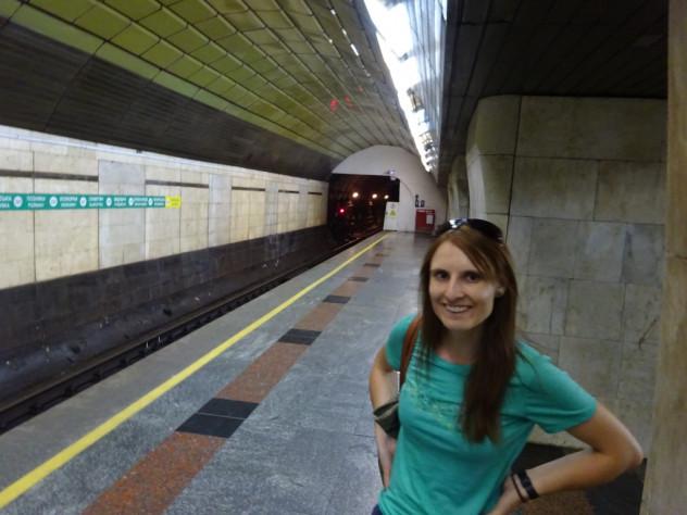Tabea in der U-Bahn