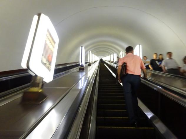 Rolltreppe in der U-Bahn