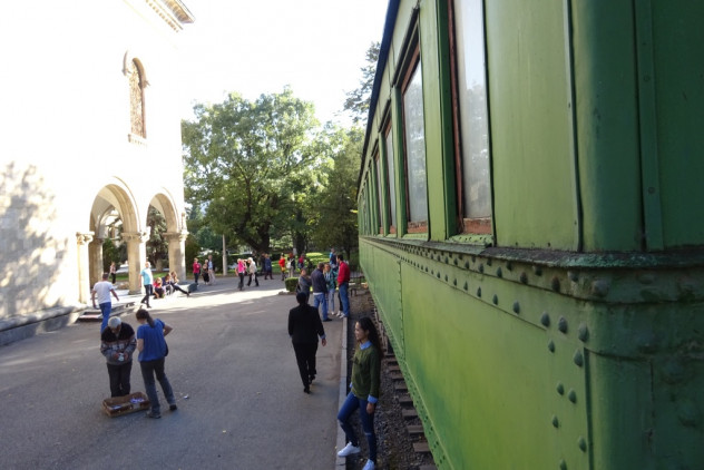 Stalins Eisenbahnwagon in Gori
