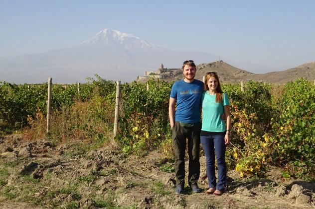 Blick auf das Kloster Chor Virap und dem Berg Ararat