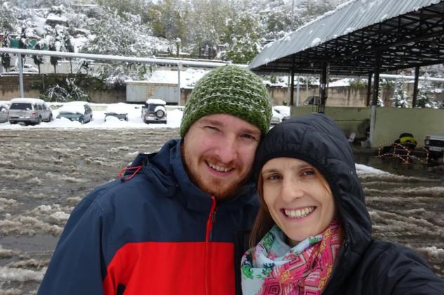 Matthias&Tabea vor der Fahrt in den Iran