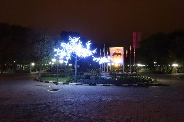 Tabriz bei Nacht