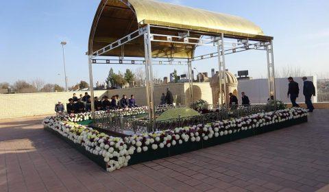 Gedenkstätte von Islam Karimov im Hazrati Khizir in Samarkand