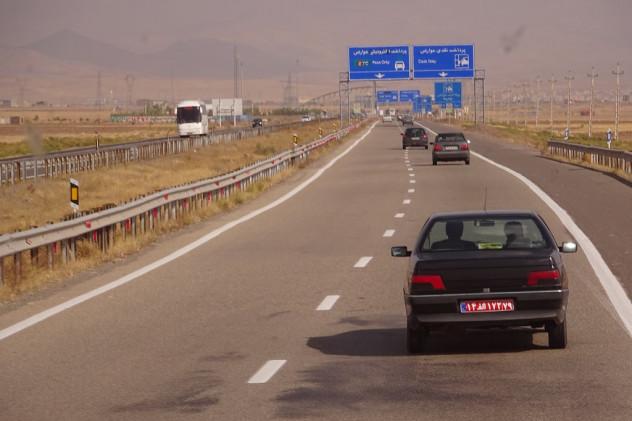 Straße von Rasht nach Teheran