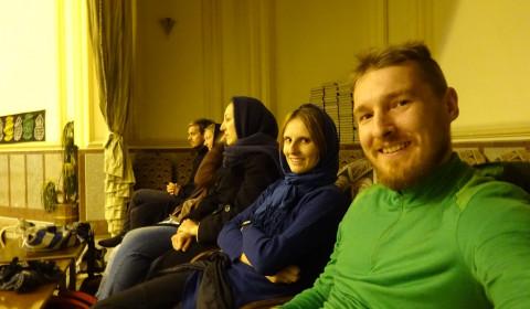 Bei einem Sportevent mit unsere Gastfamilie in Mashad