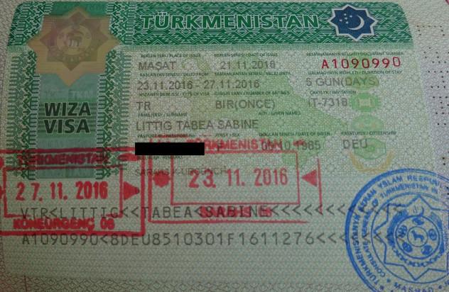 Turkmenistanvisum