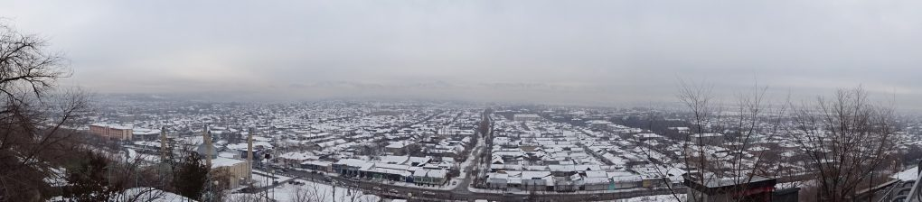Panorama über Osch im Winter