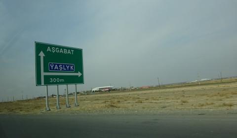 Wüste vor den Toren Ashgabats