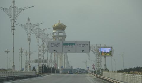 Anfahrt nach Ashgabat