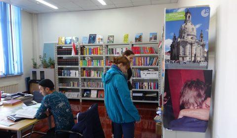 Deutsche Ecke in der Bibliothek