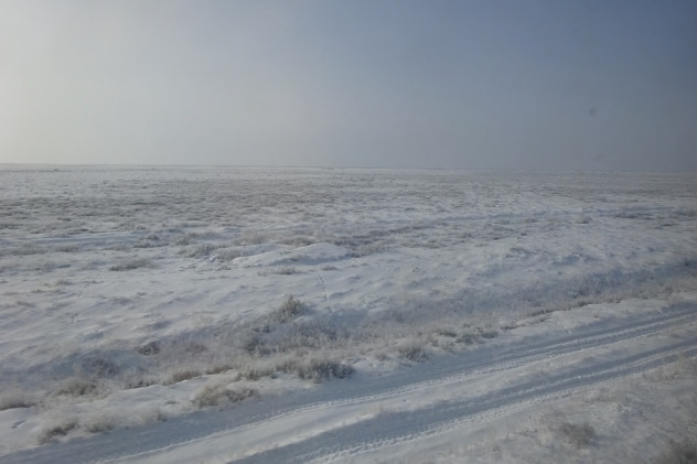 Steppe im Winter