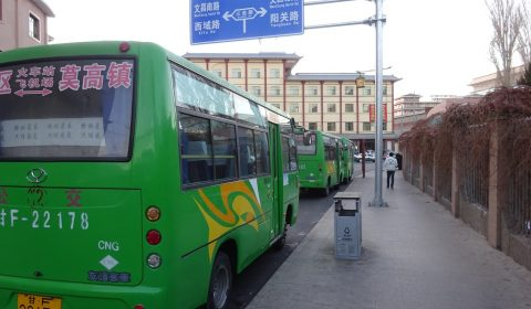 Stadtbus in Dunhuang