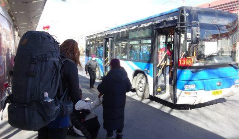 Stadtbus in Lhasa
