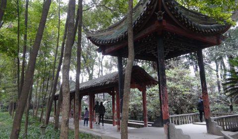 Pavillon im Wuhou Tempel