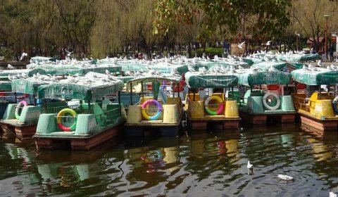 Boote in Kunming