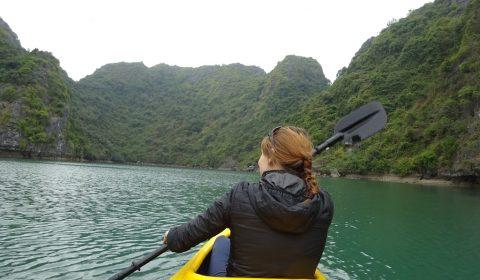 Kajaking in der Halong Bucht