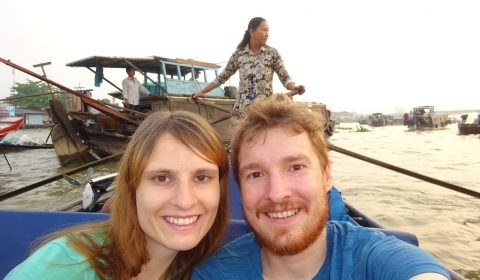 Besuch der schwimmenden Märkte im Mekong