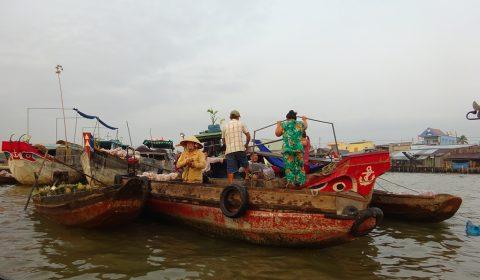 Schwimmender Markt in Cai Rang