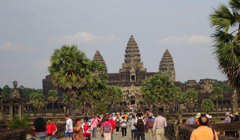 Massentourismus in Angkor Wat