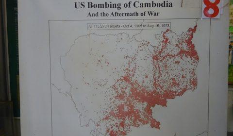 Karte über US Bombardement