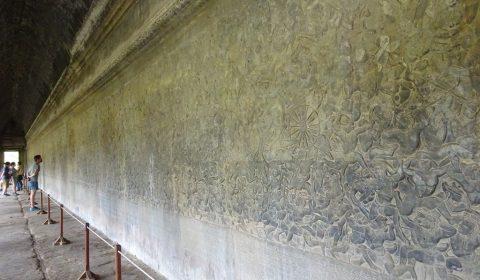 Relief mit buddhistischer Schöpfungsgeschichte
