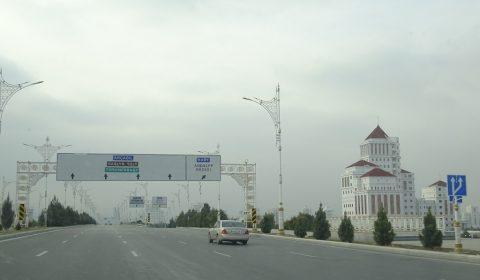 Straße in Ashgabat