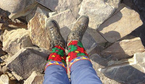 Bunte Socken der Pamiri