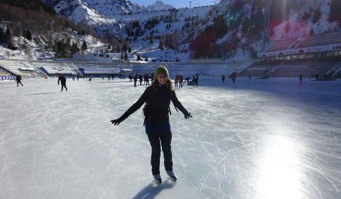 Tabea auf der Eisbahn