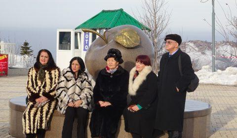 Kasachische Damen im Pelz