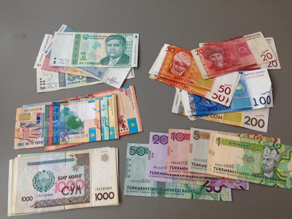 Geldscheine in Zentralasien
