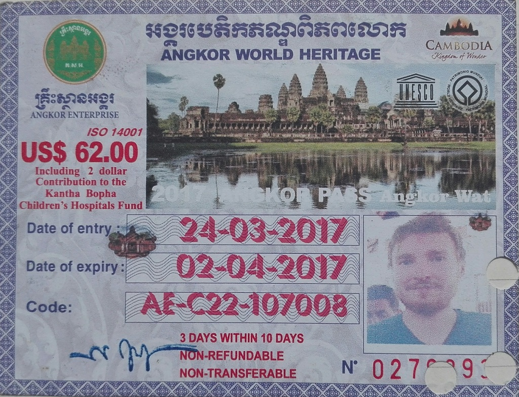 Eintrittskarte Angkor Park