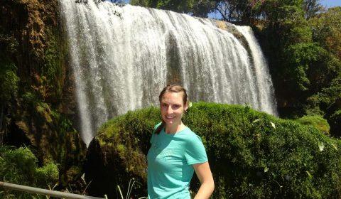 Tabea am Elephant Waterfall
