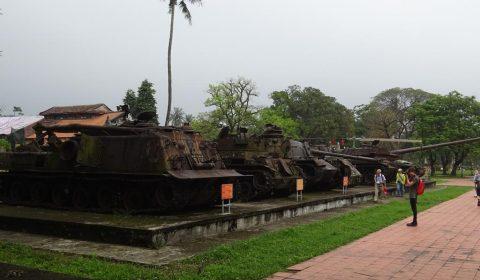 Panzer im Militärmuseum von Hue