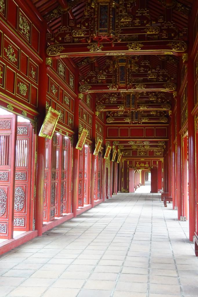 Palastgang in der Verbotenen Stadt in Hue