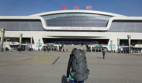 Bahnhof in Xining