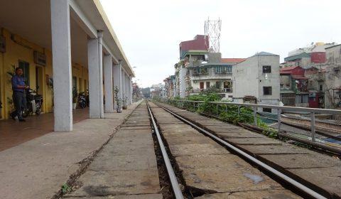 Bahnhof im Zentrum von Hanoi