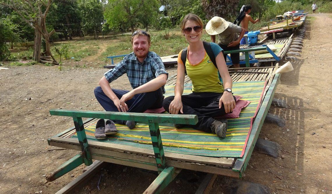 Auf dem Bambuszug in Battambang