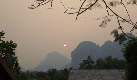 Vang Vieng am Abend